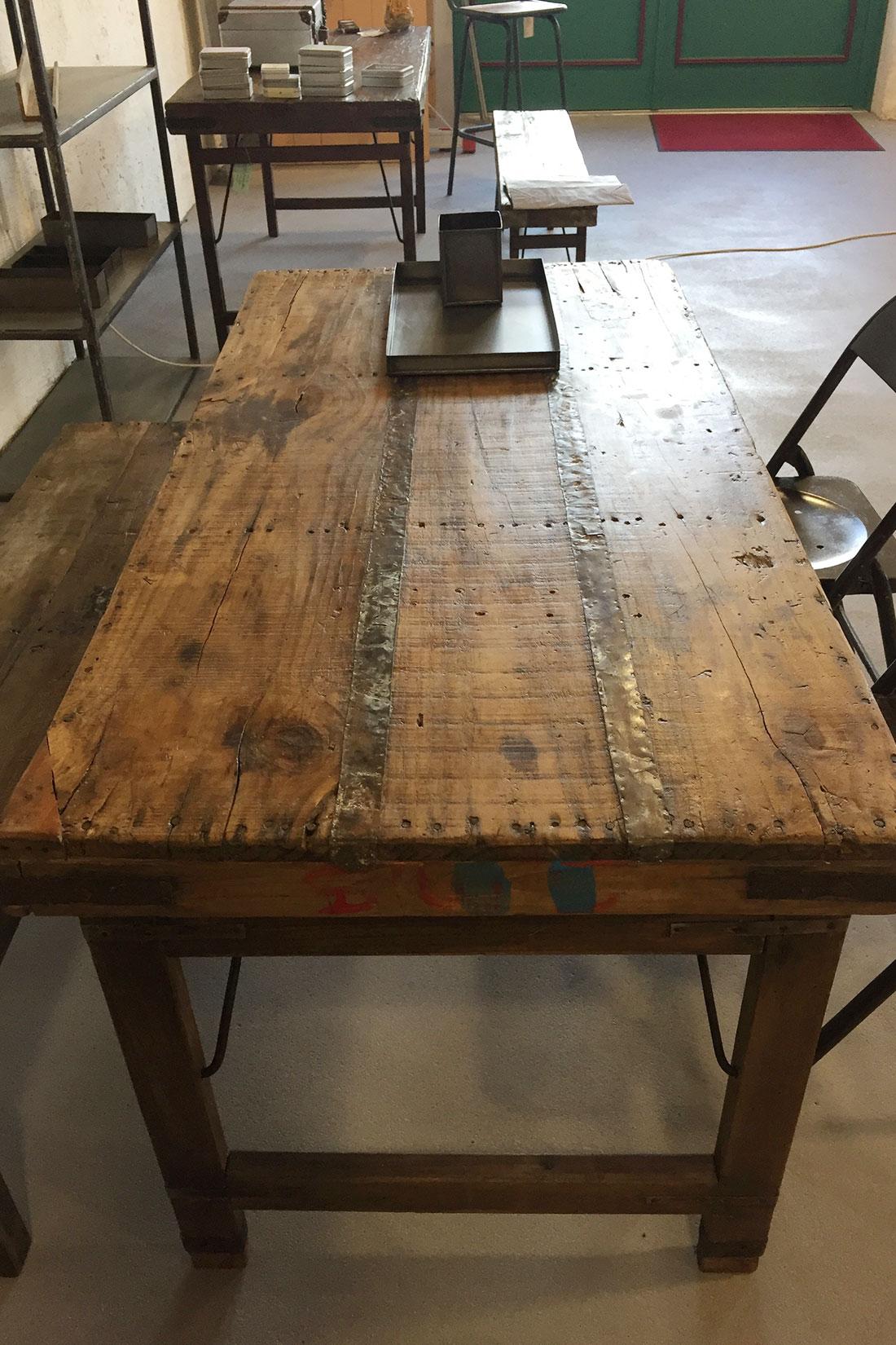 Vintage Esstisch aus Holz klappbar Shabby-Chic | Handmade ...