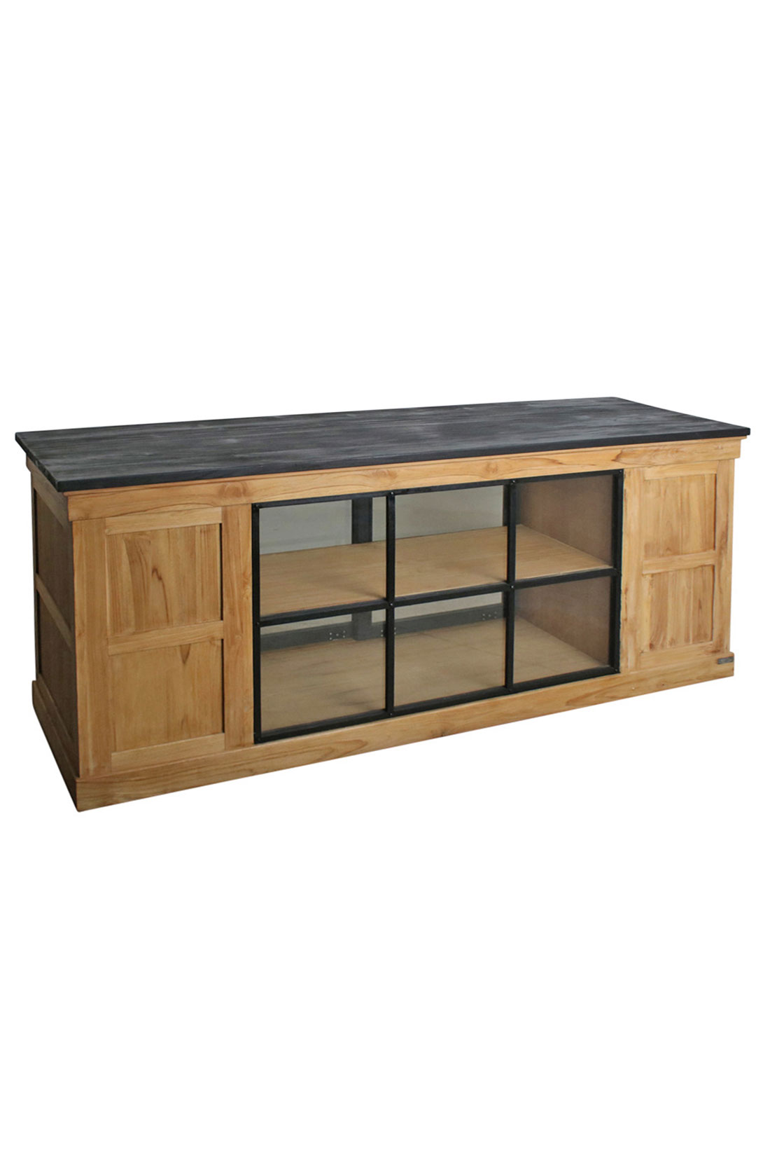 tresen aus recyceltem teakholz natur online kaufen stuff. Black Bedroom Furniture Sets. Home Design Ideas