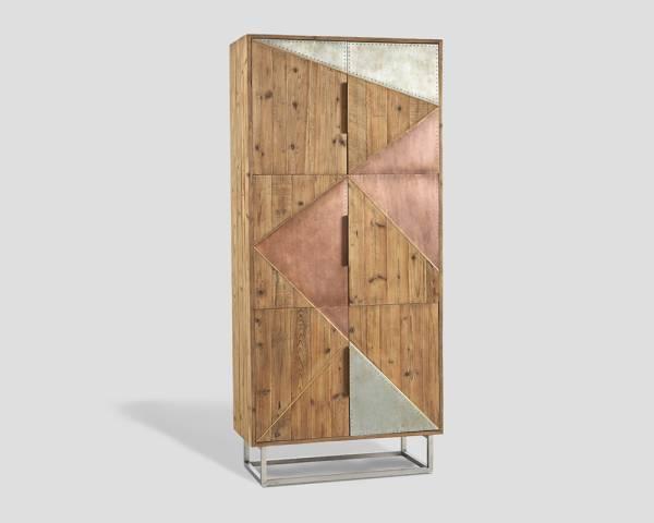 Schrank mit Metallbeschlägen 6 Türen im Industrie Look | Schränke ...