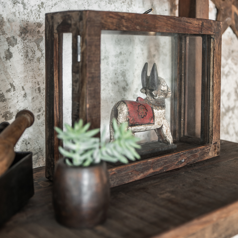 deko kasten aus glas altolz vintage living stuff loft design. Black Bedroom Furniture Sets. Home Design Ideas