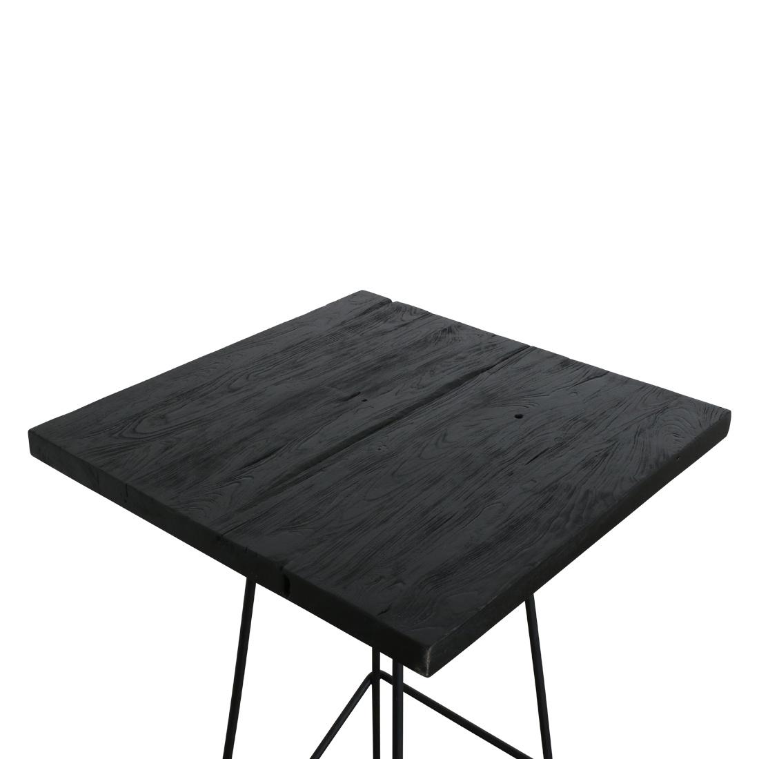 Bartisch Loft Style Mit Altholz Tischplatte Black Edition